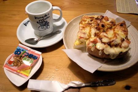 スクランブルエッグトースト&ホットミルク
