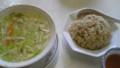 炒飯と野菜スープ