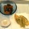 筍の海老真丈挟み揚げ トマトの麦黒酢ジュレ