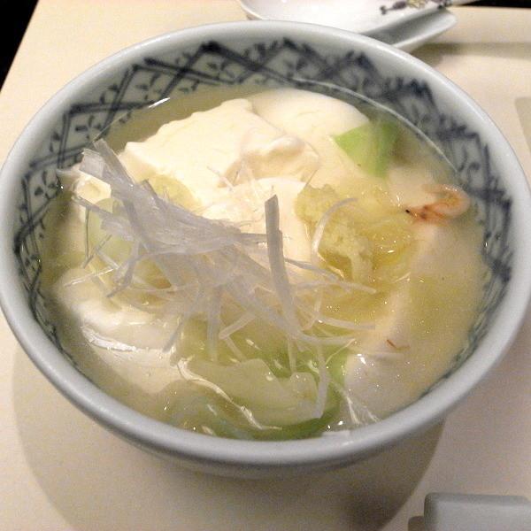 ふく福豆腐桜海老あんかけ
