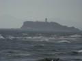 江ノ島と荒波-2013.10.12稲村ガ崎海浜公園にて
