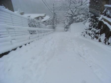 2014.2.14 17時時点での鎌倉某所の様子をお送りします。