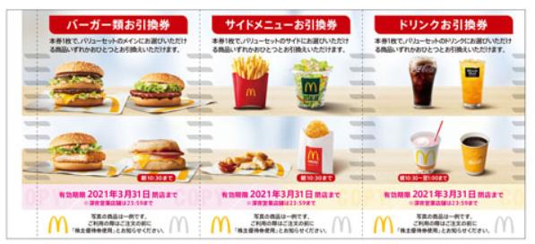 日本マクドナルド優待