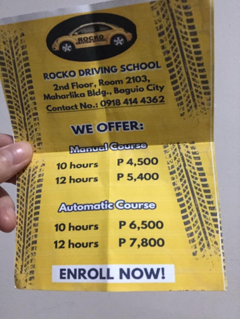 ドライビングスクールの値段表