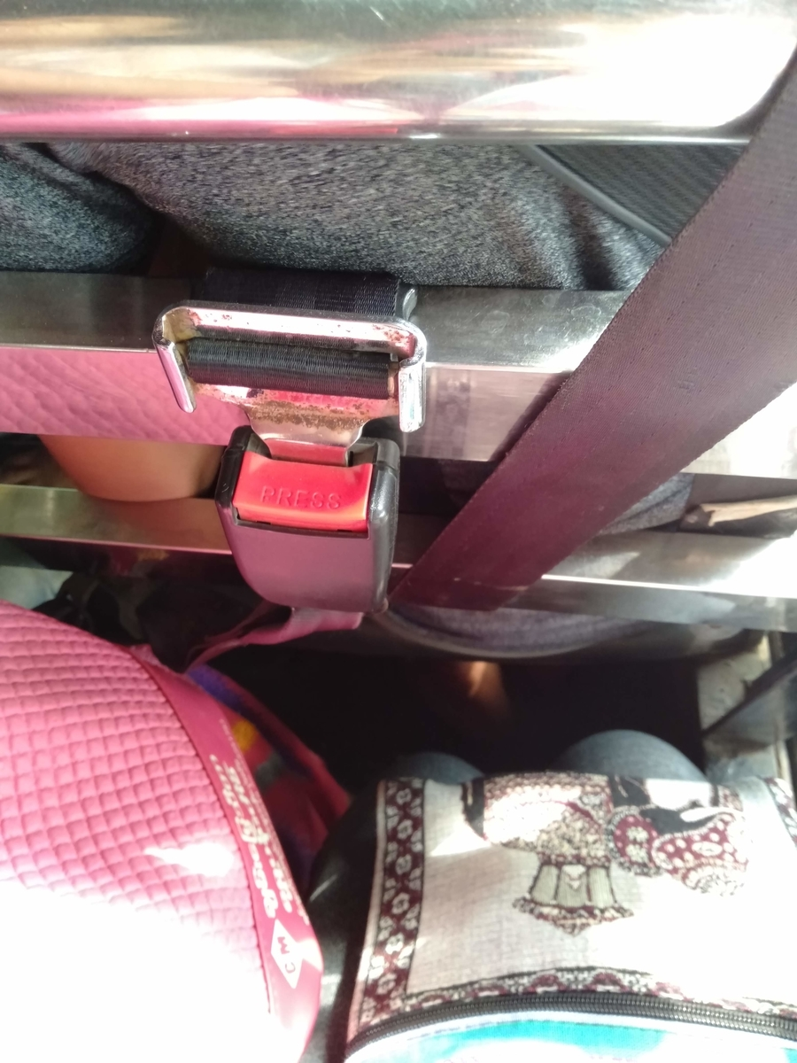 シートベルトの写真