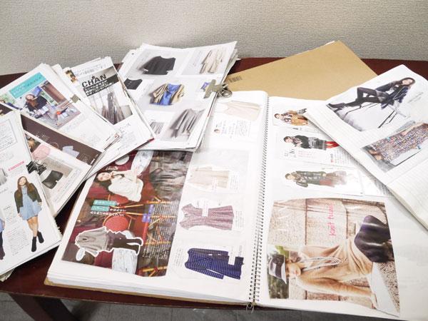 雑誌の切り抜き 理想の自分のイメージ化