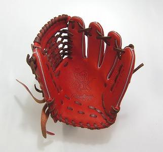 Rawlings GR6H06S 軟式魅せる捕球が男前 巧モデル(レッドオレンジ)