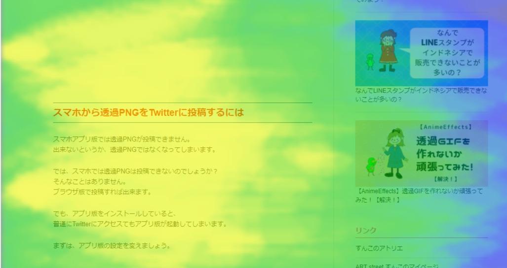 User Heat熟読エリア