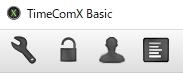 TimeComXのメニュー