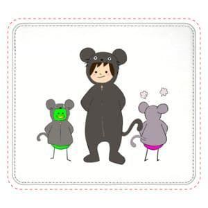 【オリラボマーケット】ネズミの着ぐるみすんこ マウスパッド