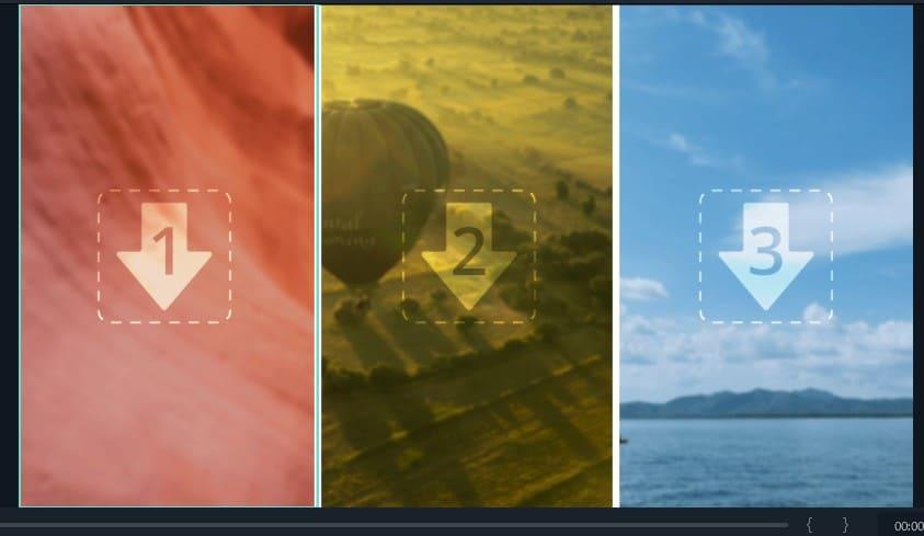 分割表示の動画配置