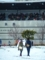 京都新聞写真コンテスト 雪と二人連れ