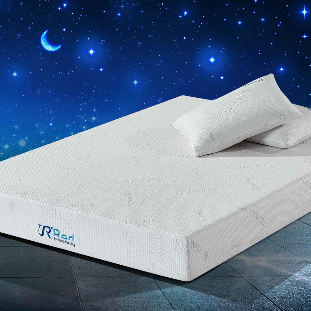 breathable silica gel memory foam mattress 8 inches