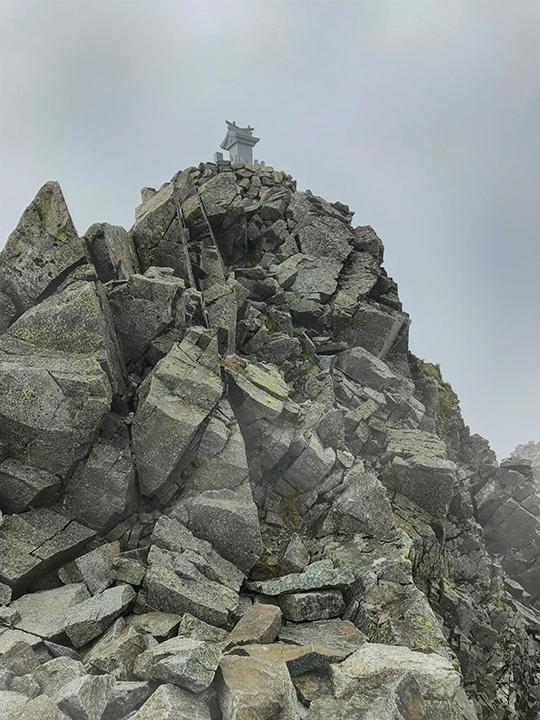 奥穂高岳頂上