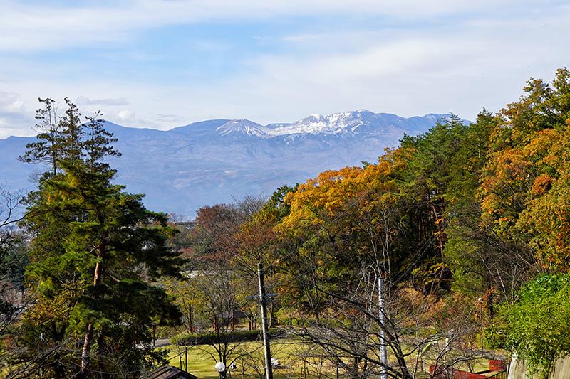 信夫山公園から吾妻連峰