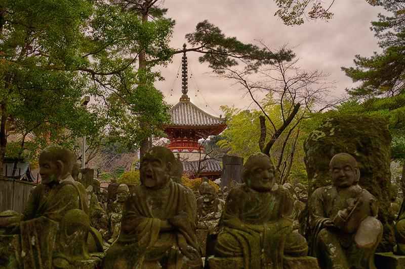 喜多院の五百羅漢と多宝塔