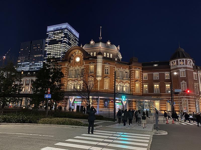 ナイトモードで東京駅