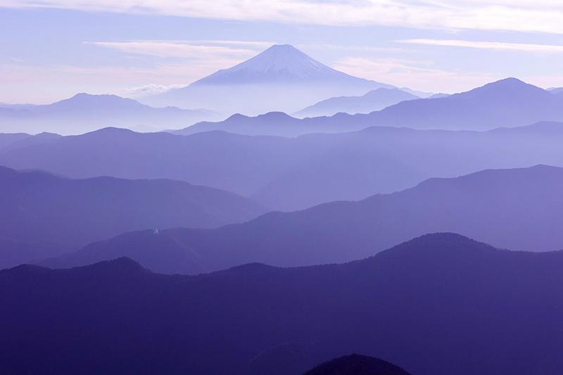 奥多摩から富士山