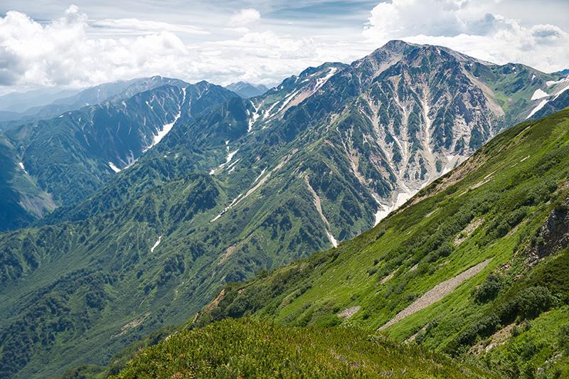 小蓮華山から杓子岳