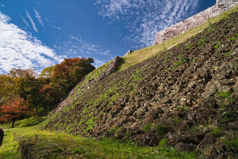 二本松城旧天守閣の石垣
