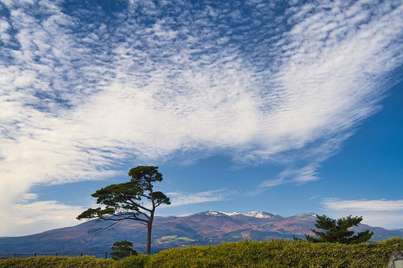 本丸から見た安達太良山