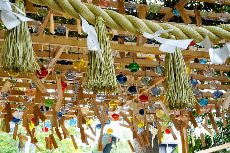 氷川神社の縁結び風鈴