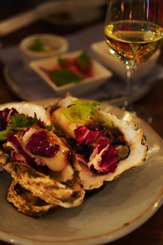 牡蠣のカクテル
