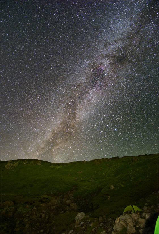 白馬岳の星空