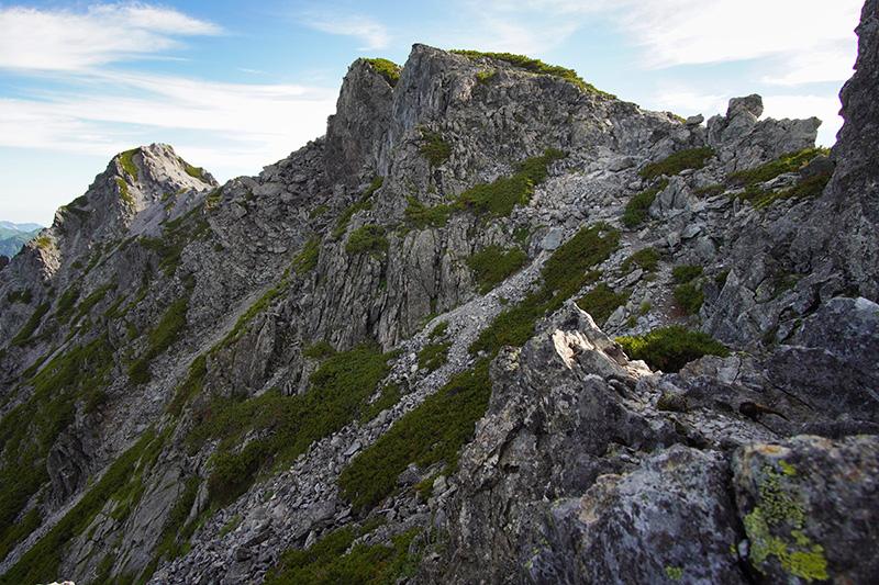 スバリ岳の岩場
