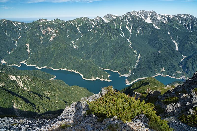 スバリ岳から黒部湖