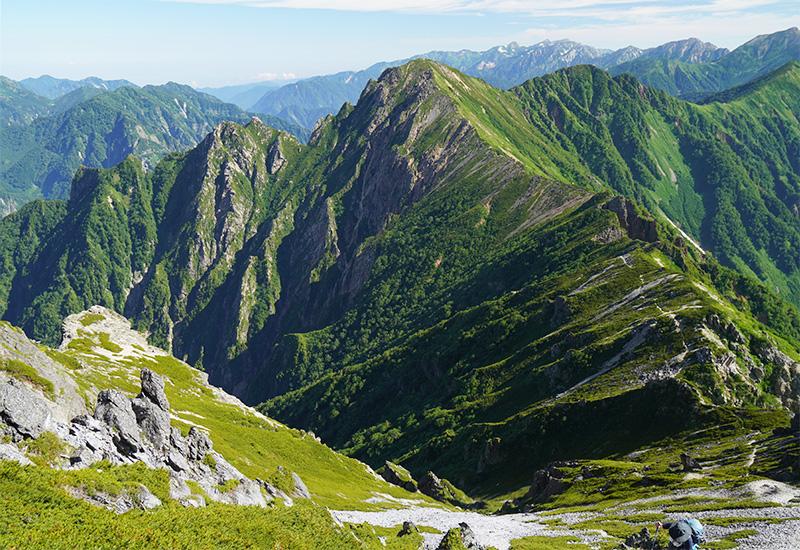 スバリ岳から赤沢岳