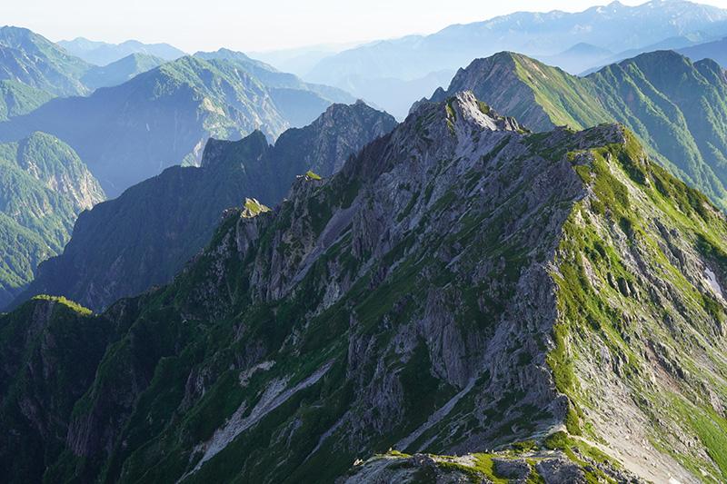 スバリ岳と赤沢岳西尾根