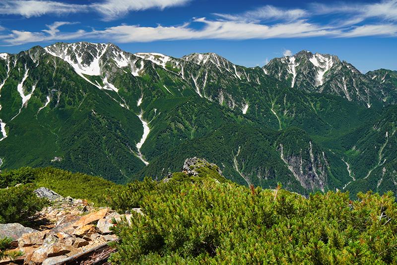 赤沢岳から劔・立山連峰