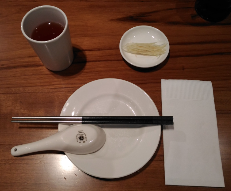 鼎泰豐(ディンタイフォン)のテーブル