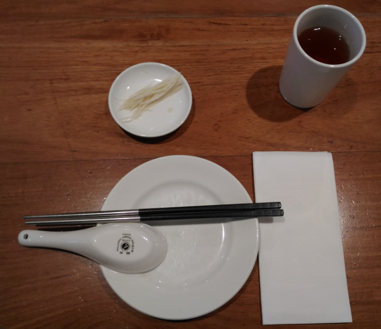 鼎泰豊(ディンタイフォン)の101店のテーブルセット
