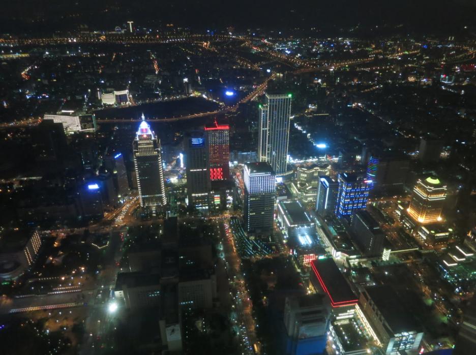 台北101の展望台からの夜景