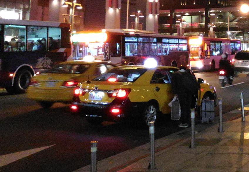 台湾の台北のタクシー