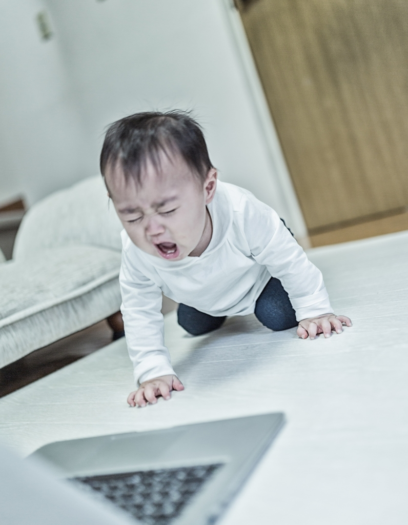 絶望する赤ちゃん