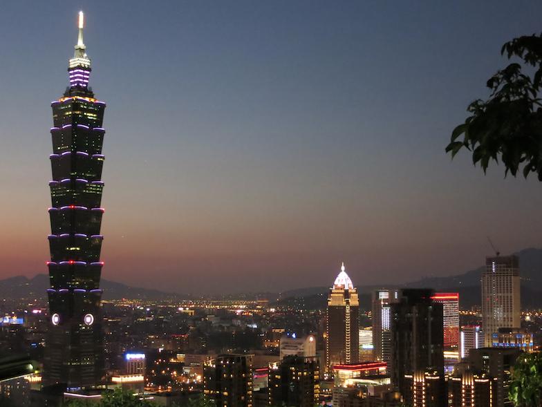 台湾の台北の夜景