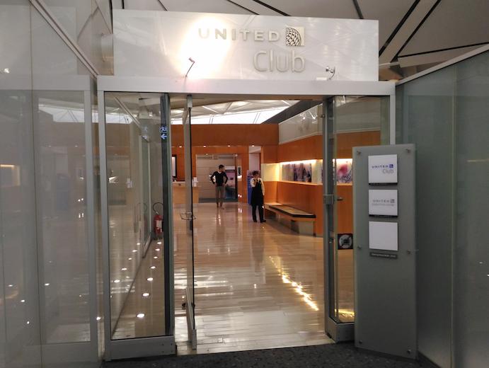 香港国際空港にあるユナイテッド航空の「United Club」