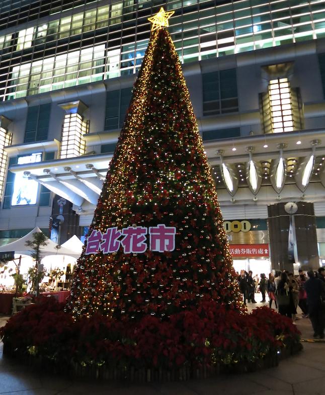 台北101のクリスマスイルミネーション