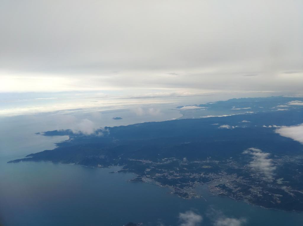 空から見た台湾
