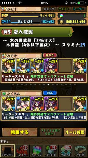 木の戦武龍 パーティー