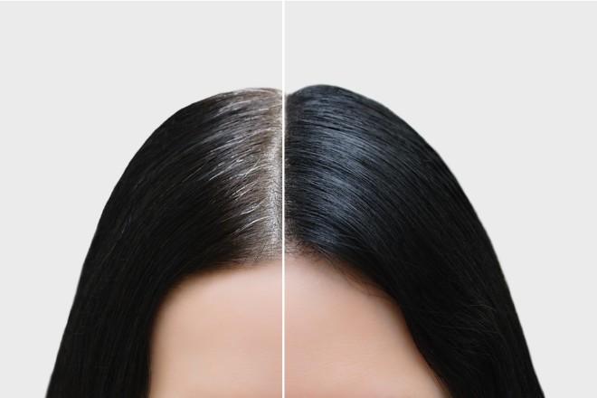 染めるタイプの白髪隠し(ポイントヘアカラー)を使う