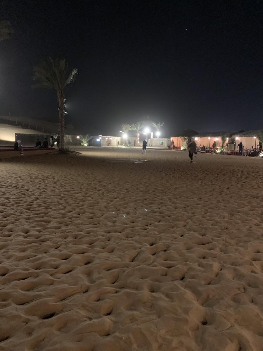 夜の砂漠の画像