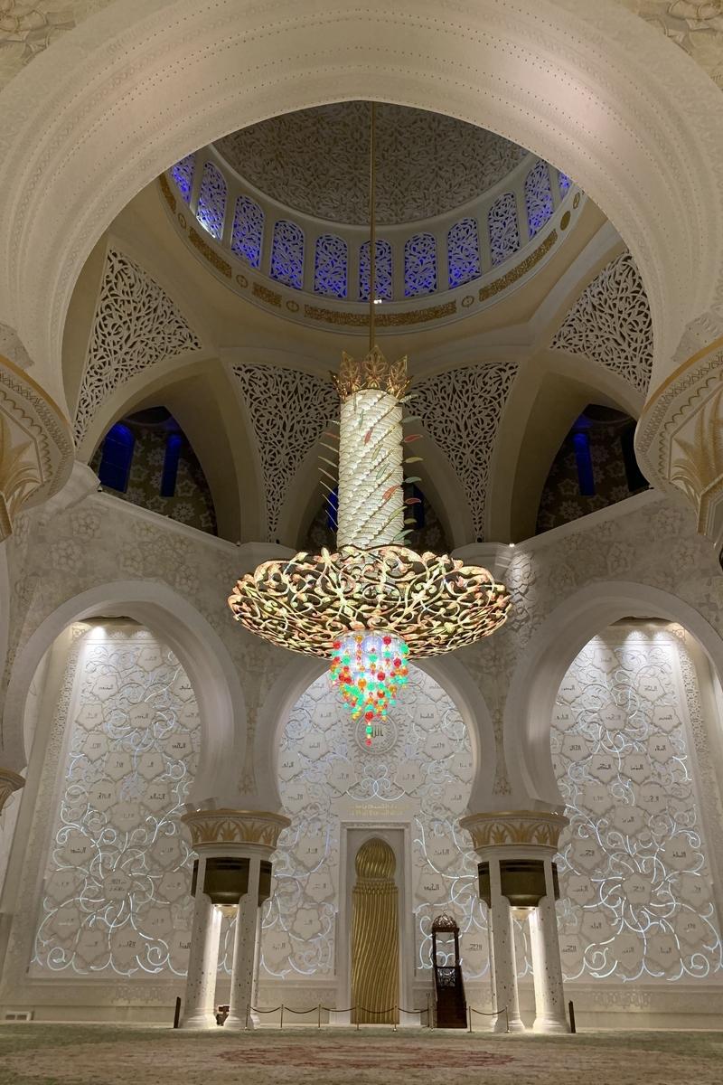 シェイク・ザーイド・モスクのシャンデリアの画像