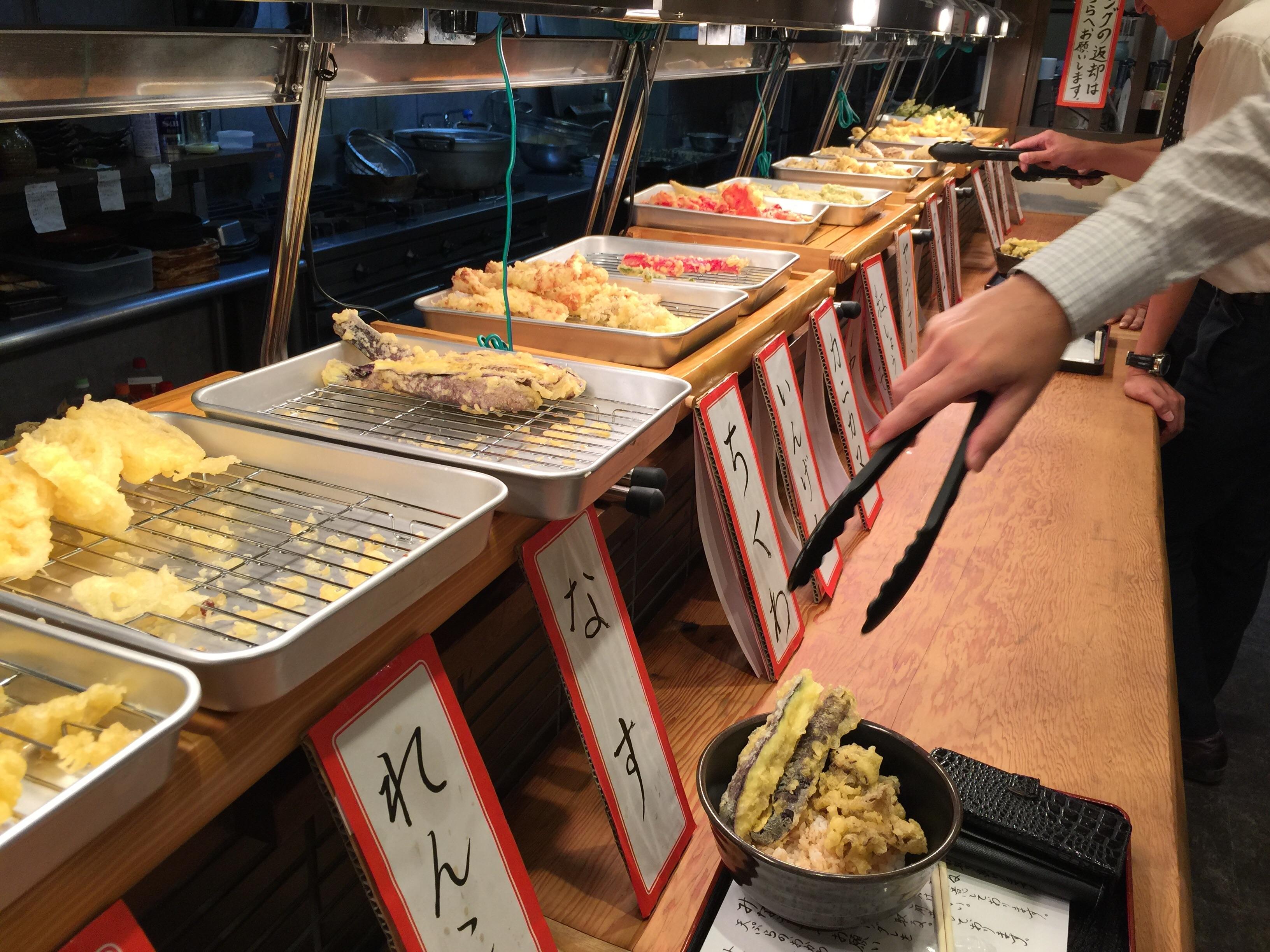 てつたろう 梅田中崎町店 天ぷら多数
