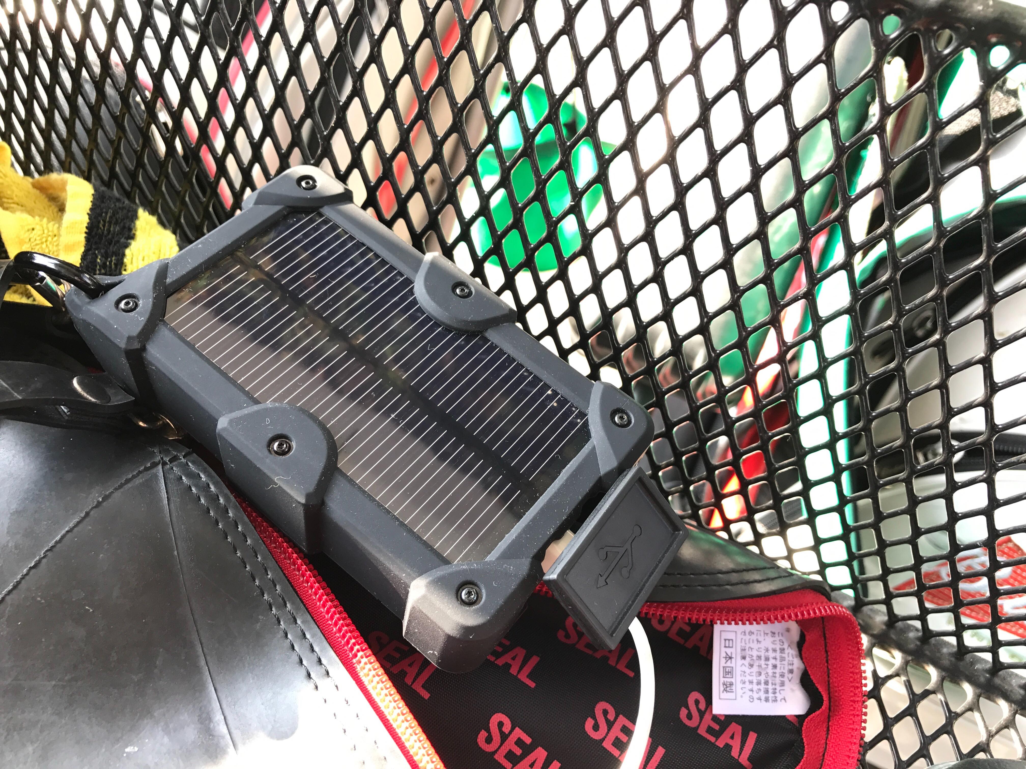 EC Technology 10000mAh 大容量 モバイルバッテリー ソーラーチャージャー ソーラーバッテリー