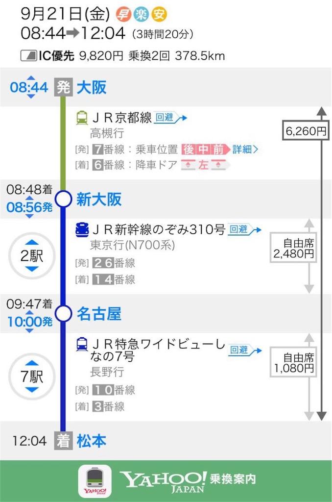 バス 大阪 長野