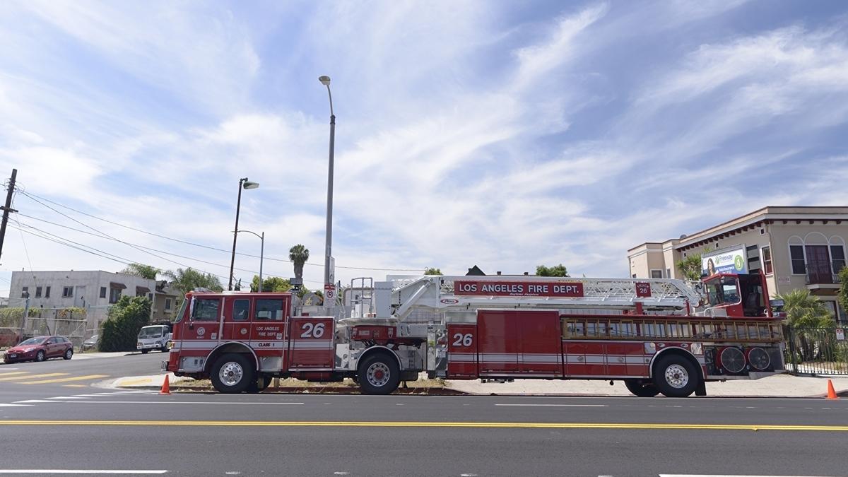 アメリカ 緊急時の消防車